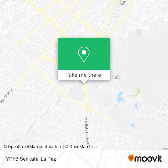 YPFB Senkata map