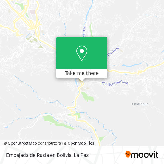 Embajada de Rusia en Bolivia map