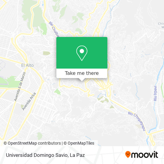 Universidad Domingo Savio map