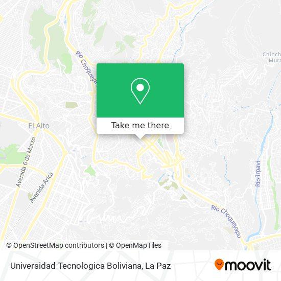 Universidad Tecnologica Boliviana map