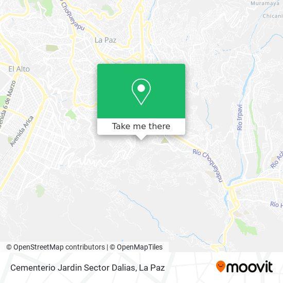 Cementerio Jardin Sector Dalias map