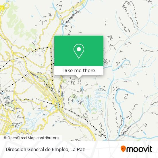 Dirección General de Empleo map