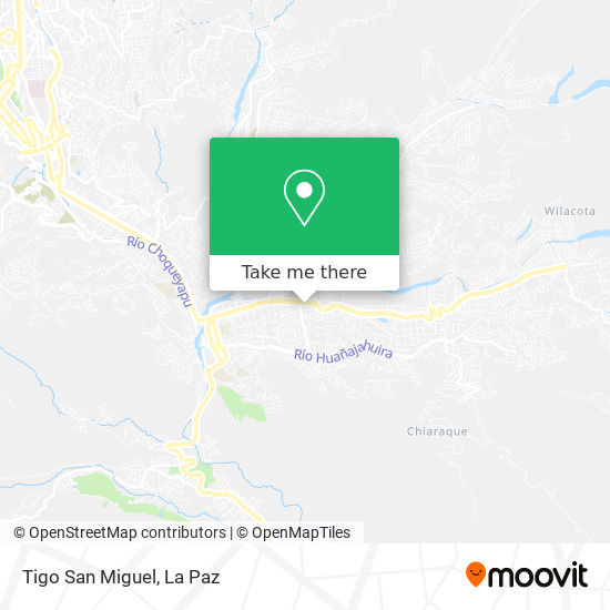 Tigo San Miguel map