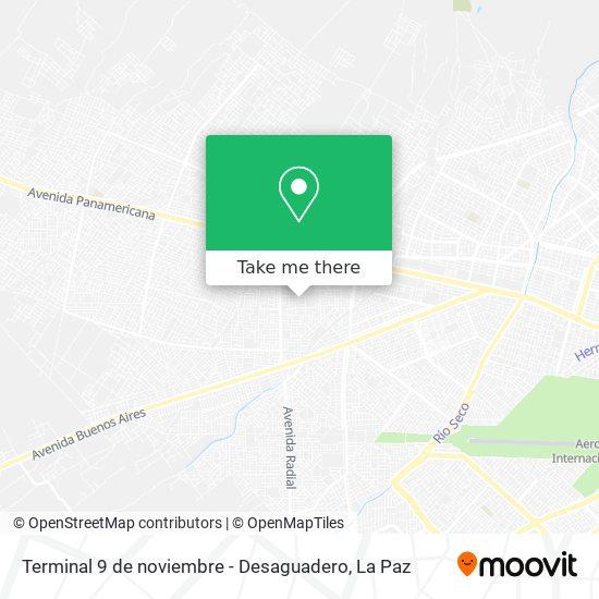 Terminal 9 de noviembre  - Desaguadero map