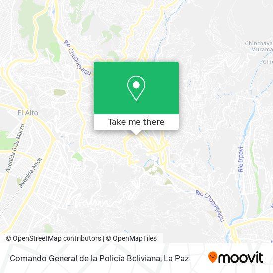 Comando General de la Policía Boliviana map
