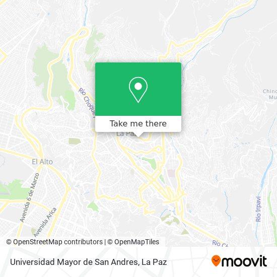 Universidad Mayor de San Andres map