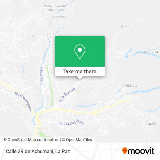Calle 29 de Achumani map