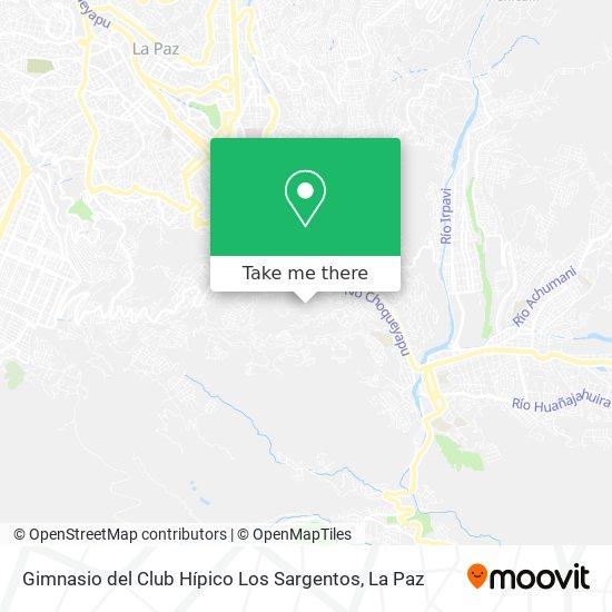 Gimnasio del Club Hípico Los Sargentos map