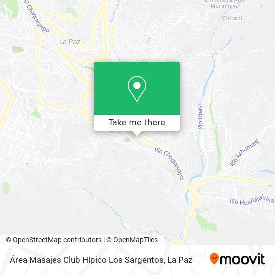 Área Masajes Club Hípico Los Sargentos map