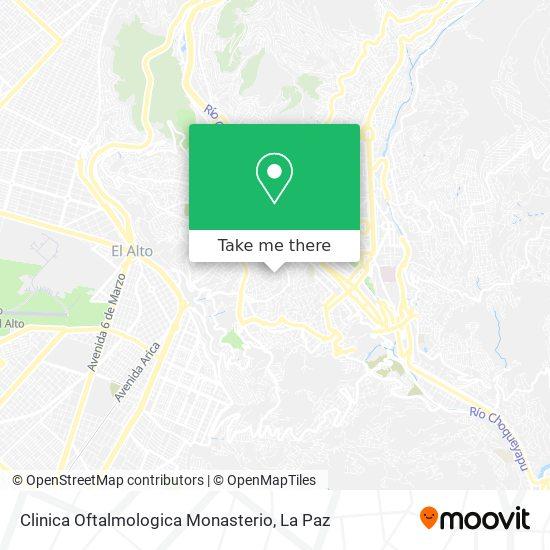 Clinica Oftalmologica Monasterio map