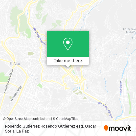 Rosendo Gutierrez Rosendo Gutierrez esq. Oscar Soria map