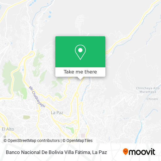Banco Nacional De Bolivia Villa Fátima map