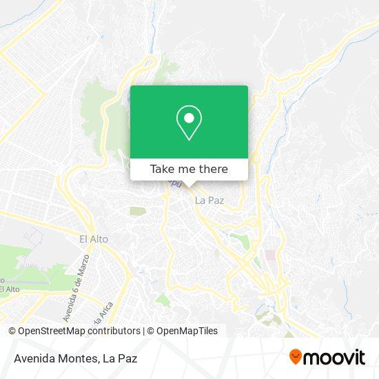 Avenida Montes map