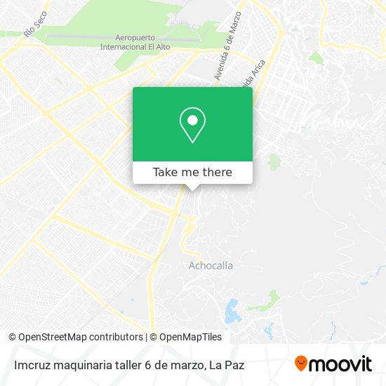 Imcruz maquinaria taller 6 de marzo map