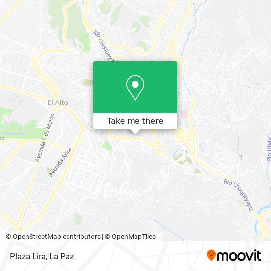 Plaza Lira map