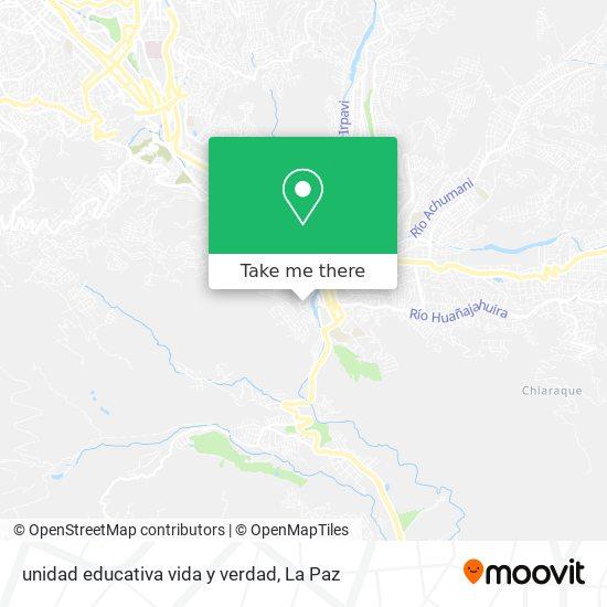 unidad educativa vida y verdad map