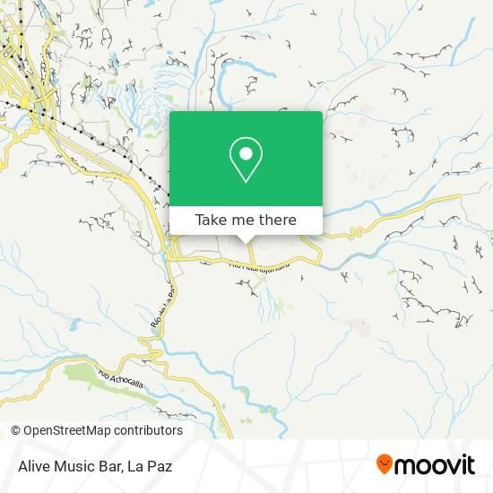Alive Music Bar map