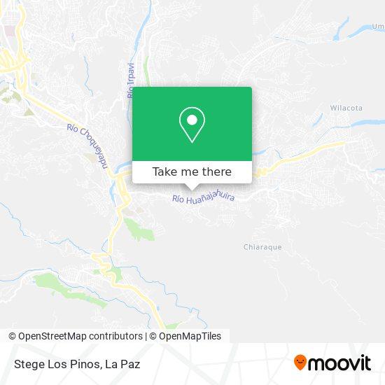 Stege Los Pinos map