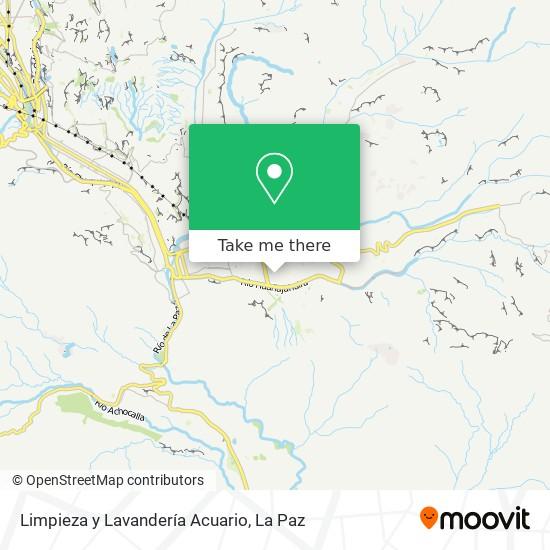Limpieza y Lavandería Acuario map