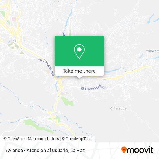 Avianca - Atención al usuario map
