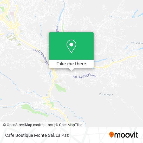 Café Boutique Monte Sal map