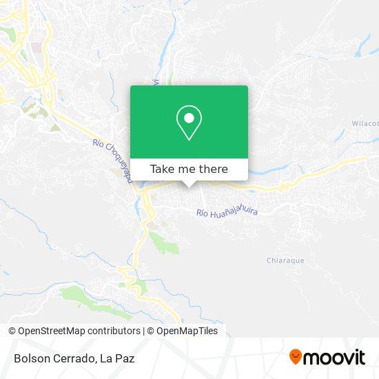 Bolson Cerrado map