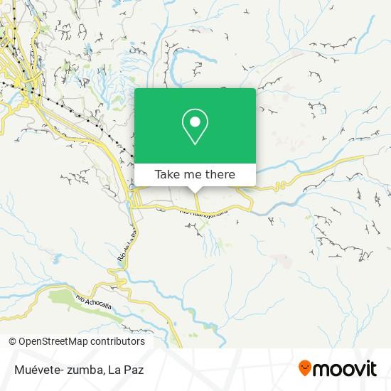 Muévete- zumba map