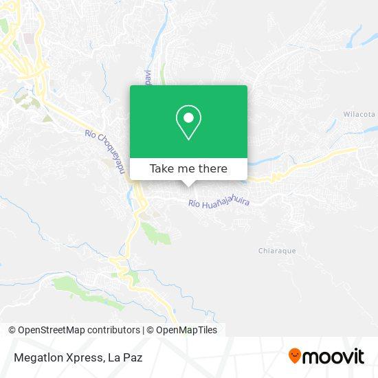 Megatlon Xpress map