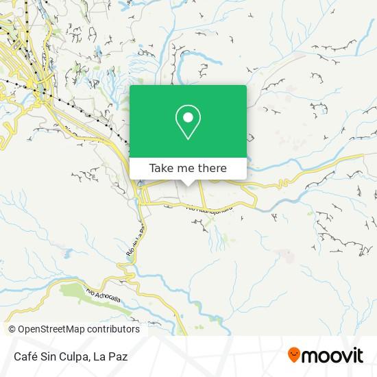 Café Sin Culpa map