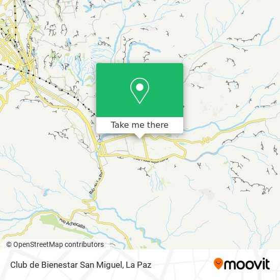 Club de Bienestar San Miguel map