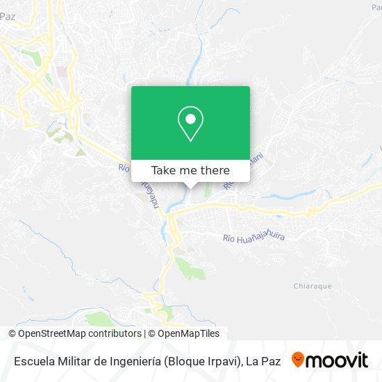 Escuela Militar de Ingeniería (Bloque Irpavi) map
