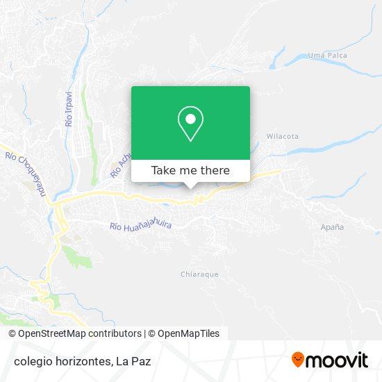 colegio horizontes map