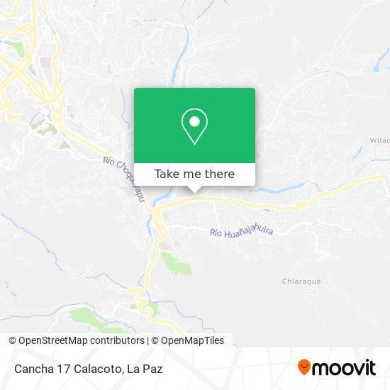 Cancha 17 Calacoto map
