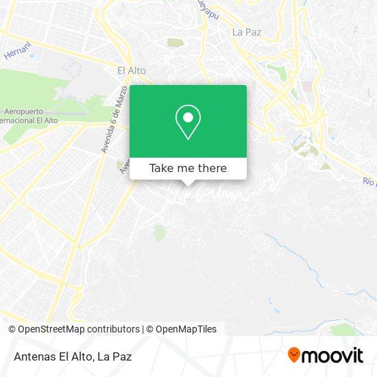 Antenas El Alto map