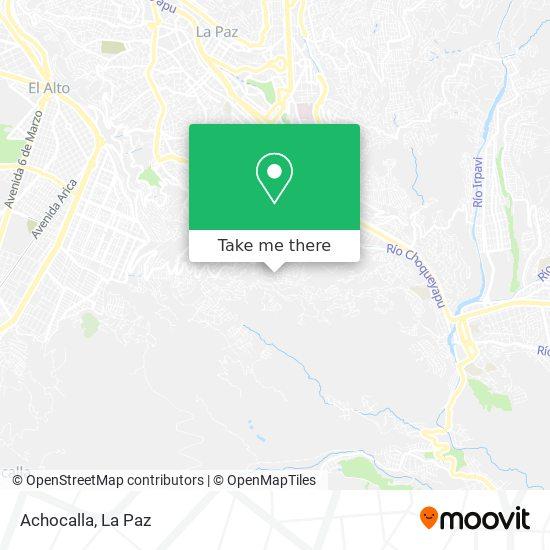 Achocalla map