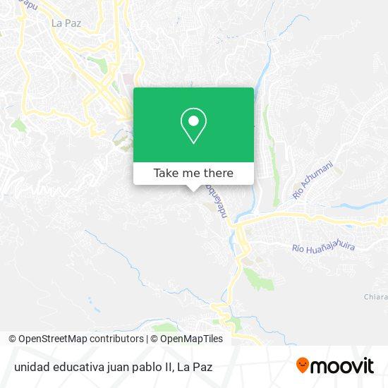 unidad educativa juan pablo II map