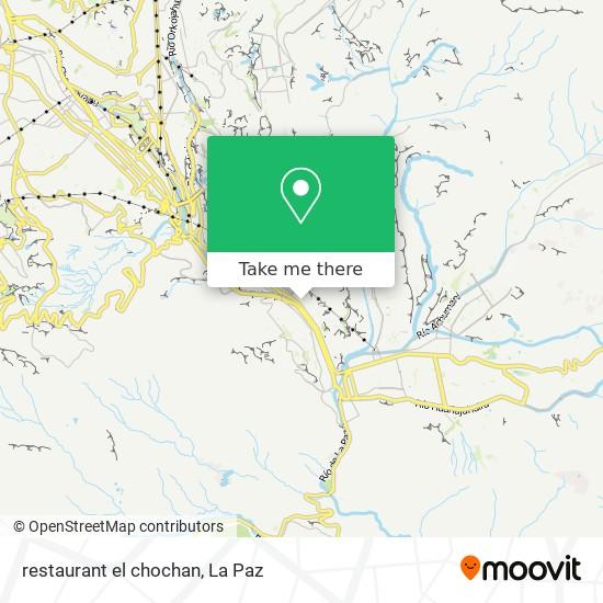 restaurant el chochan map