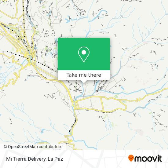 Mi Tierra Delivery map