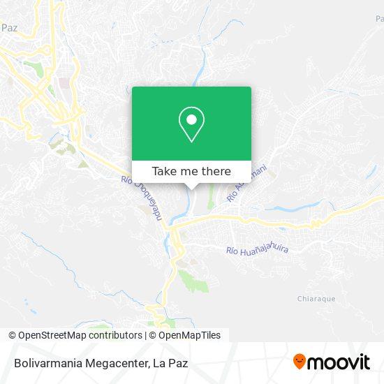 Bolivarmania Megacenter map