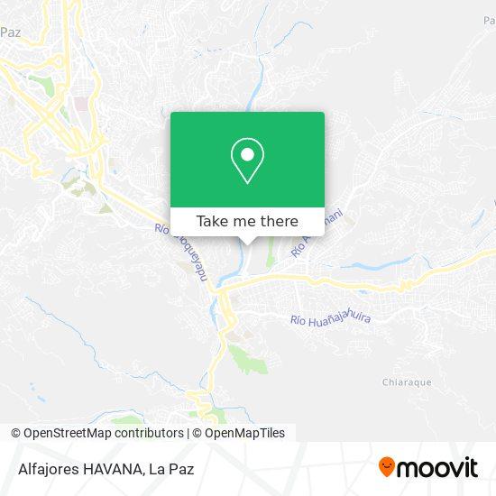 Alfajores HAVANA map