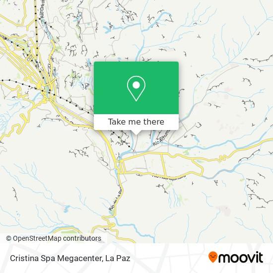 Cristina Spa Megacenter map