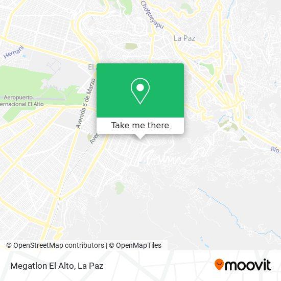 Megatlon El Alto map