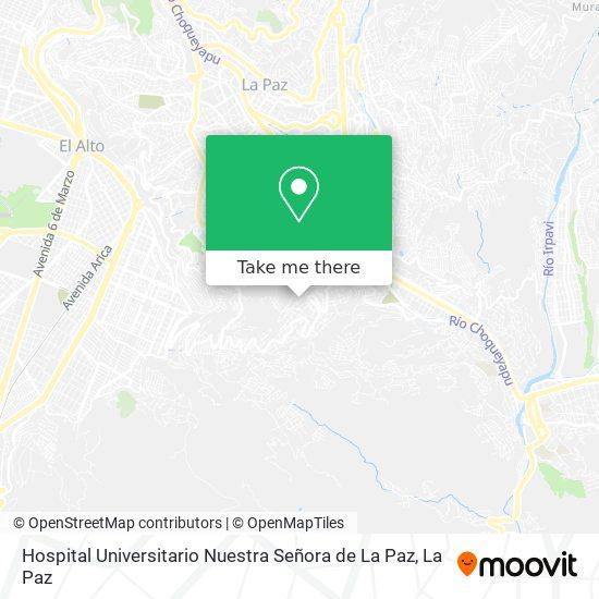 Hospital Universitario Nuestra Señora de La Paz map