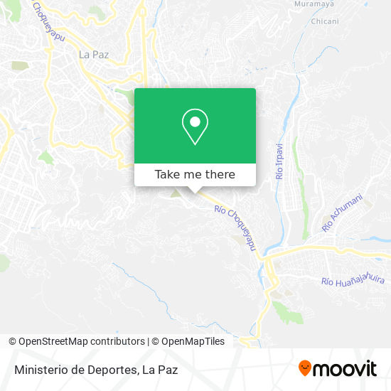 Ministerio de Deportes map