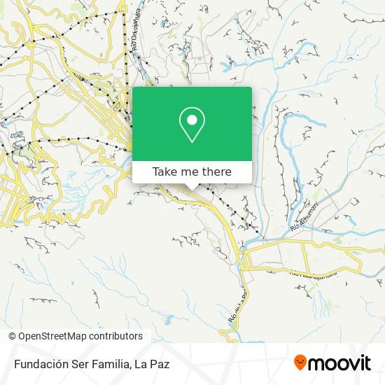 Fundación Ser Familia map