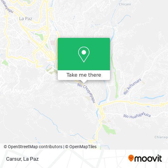 Carsur map