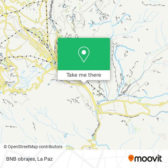 BNB obrajes map