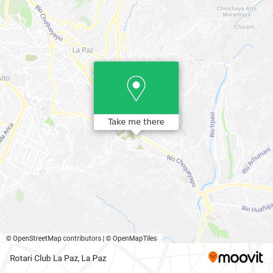 Rotari Club La Paz map