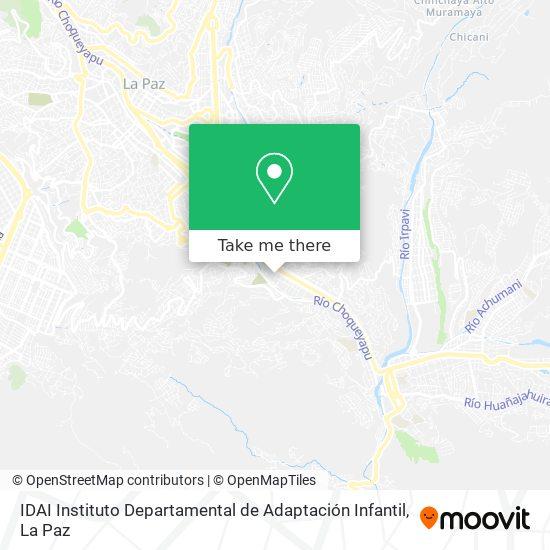 IDAI Instituto Departamental de Adaptación Infantil map