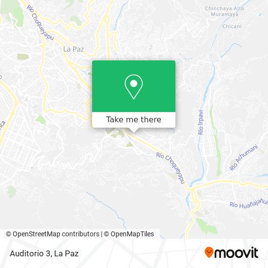 Auditorio 3 map